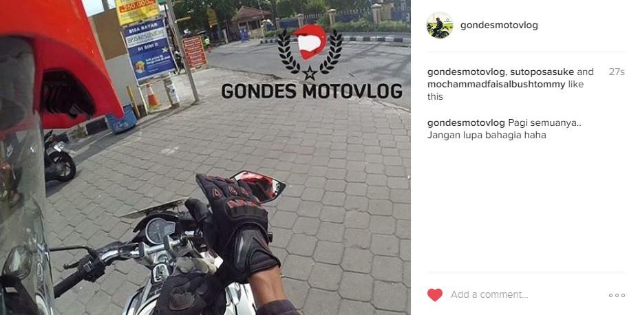 Gondes Motovlog Motovlogger Indonesia