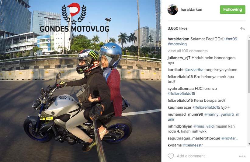 Harald Arkan Motovlogger Indonesia